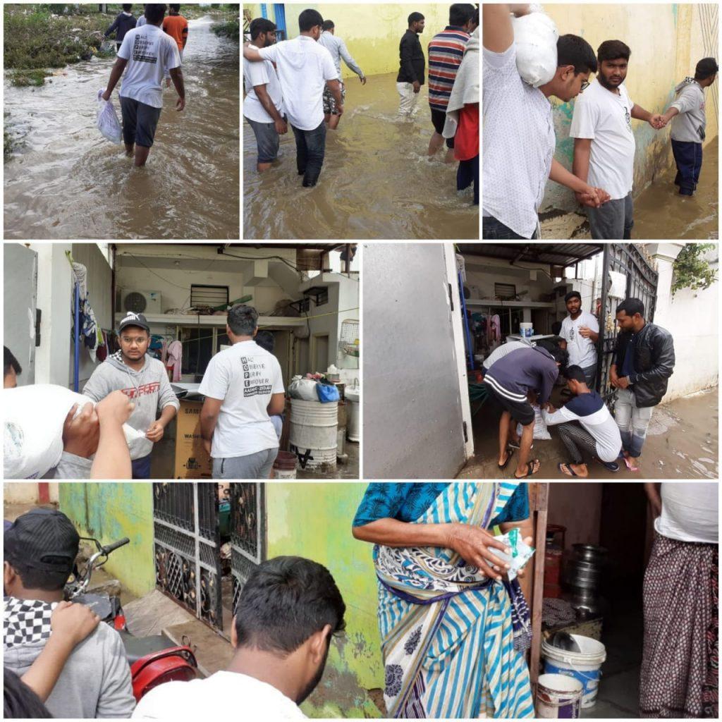 Relief work and food distribution in Bahadurpura Falaknumah chandrayangutta