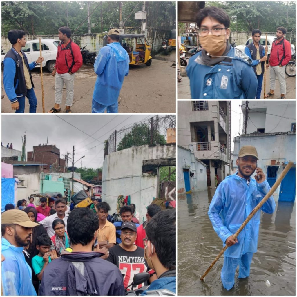 Relief work in Chadarghat and Malakpet