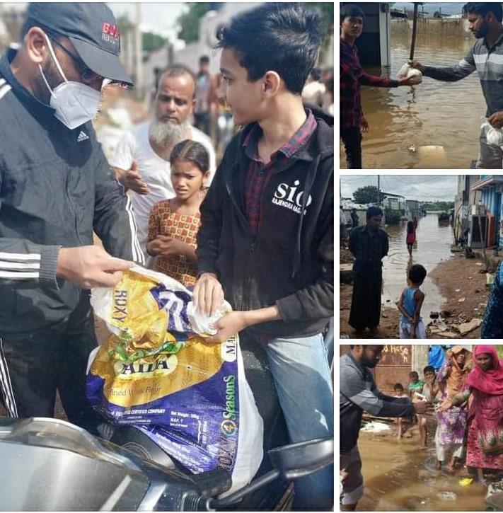 Food distribution in Rajendranagar